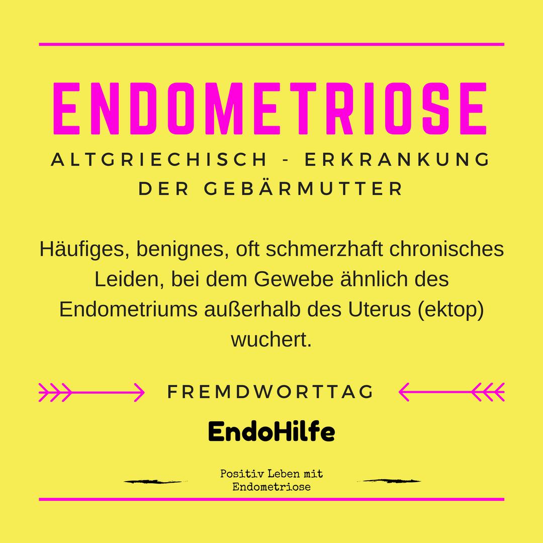 Endometriose Erkrankung der Gebärmutter