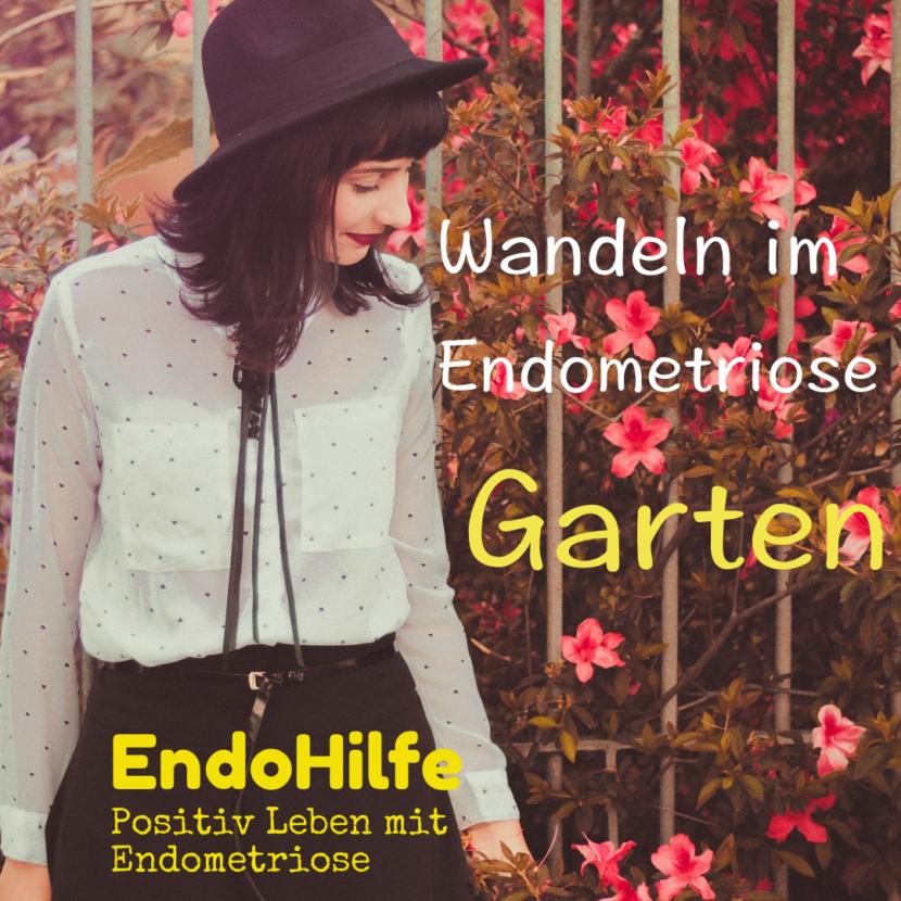 Eine junge Frau im Garten