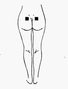 Reizstrom Pads aufkleben bei Menstruationsbeschwerden und Unterleibsschmerzen
